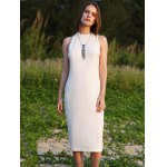 cheap Women Jewel Collar Sleeveless Pure Color Sheathy Knitted Dress