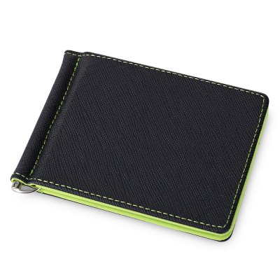 Dull Polish Letter Horizontal Hard Open Cash Clip Money Wallet