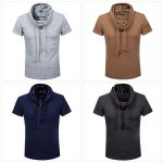 Cowl Collar Short Sleeve Casual Shirt for sale