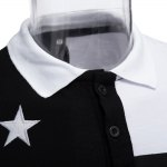 Color Block Stars Design Turn-down Collar Men Casual Shirt for sale