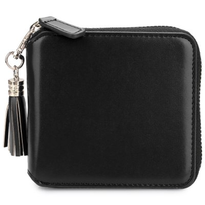 Detachable Tassel Solid Color Zipper Square WalletWomens Wallets<br>Detachable Tassel Solid Color Zipper Square Wallet<br><br>Wallets Type: Clutch Wallets<br>Gender: For Women<br>Style: Fashion<br>Closure Type: Zipper&amp;Hasp<br>Pattern Type: Solid<br>Main Material: PU Leather<br>Interior: Interior Slot Pocket<br>Embellishment: Letter<br>Height: 10.2 cm / 4.02 inch<br>Width: 2.7 cm / 1.06 inch<br>Length(CM): 10.4 cm / 4.09 inch<br>Product weight: 0.105 kg<br>Package weight: 0.129 kg<br>Package size (L x W x H): 10.90 x 3.20 x 10.70 cm / 4.29 x 1.26 x 4.21 inches<br>Package Contents: 1 x Wallet