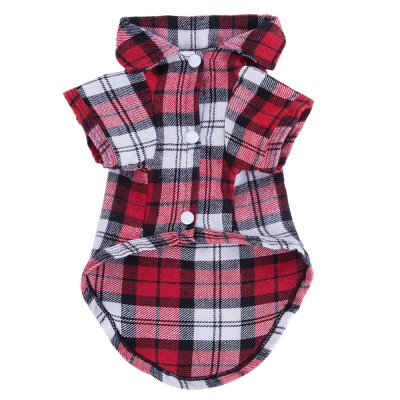 Durable Grid Spring Pet Clothes Shirt