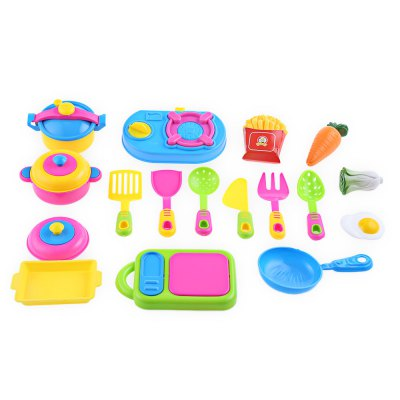 17pcs Simulated Kitchen Tableware Toy Child Play Set