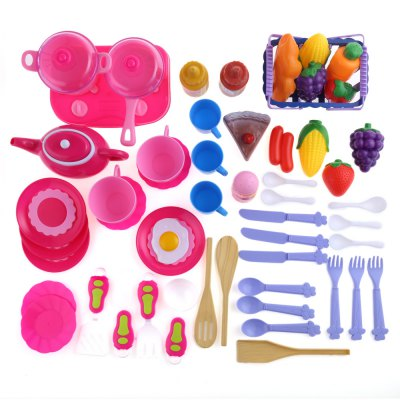 54pcs Kid Kitchen Pretend Toy Set