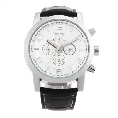 JARAGAR F1205238 Men Automatic Mechanical WatchMens Watches<br>JARAGAR F1205238 Men Automatic Mechanical Watch<br><br>Band Length: 7.48 inch<br>Band Material Type: Genuine Leather<br>Band Width: 20mm<br>Case material: Alloy<br>Case Shape: Round<br>Clasp type: Pin Clasp<br>Dial Diameter: 1.52 inch<br>Dial Display: Analog<br>Dial Window Material Type: Hardlex<br>Feature: Luminous<br>Gender: Men<br>Movement: Automatic Self-Wind<br>Style: Business<br>Product weight: 0.082 kg<br>Package weight: 0.103 kg<br>Product Size(L x W x H): 25.50 x 5.00 x 1.20 cm / 10.04 x 1.97 x 0.47 inches<br>Package Size(L x W x H): 26.50 x 6.00 x 2.20 cm / 10.43 x 2.36 x 0.87 inches<br>Package Contents: 1 x JARAGAR F1205238 Men Automatic Mechanical Watch