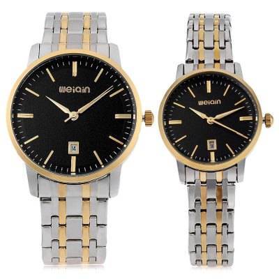 WeiQin W00137B Couple Quartz WatchCouples Watches<br>WeiQin W00137B Couple Quartz Watch<br><br>Band Length: men: 7.08 inch, women: 6.3 inch<br>Band Material Type: Stainless Steel<br>Band Width: men: 20mm, women: 14mm<br>Case material: Stainless Steel<br>Case Shape: Round<br>Clasp type: Folding Clasp<br>Dial Diameter: men: 1.5 inch, women: 1.18 inch<br>Dial Display: Analog<br>Dial Window Material Type: Hardlex<br>Feature: Date<br>Gender: lovers,Men,Women<br>Movement: Quartz<br>Style: Dress<br>Water Resistance Depth: 30m<br>Product weight: 0.154 kg<br>Package weight: 0.178 kg<br>Package Size(L x W x H): 11.50 x 8.50 x 2.00 cm / 4.53 x 3.35 x 0.79 inches<br>Package Contents: 1 x WeiQin W00137B Couple Quartz Watch