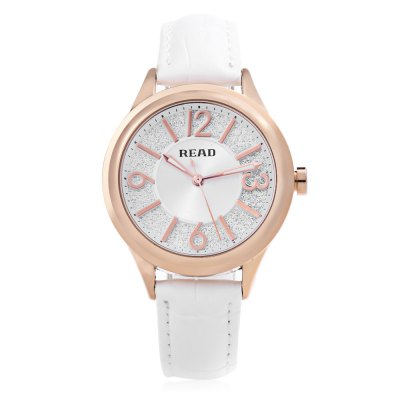 READ R28030 Women Quartz WatchWomens Watches<br>READ R28030 Women Quartz Watch<br><br>Band Length: 7.93 inch<br>Band Material Type: Genuine Leather<br>Band Width: 16mm<br>Case material: Alloy<br>Case Shape: Round<br>Clasp type: Pin Buckle<br>Dial Diameter: 1.42 inch<br>Dial Display: Analog<br>Dial Window Material Type: Mineral Glass Mirror<br>Feature: Luminous<br>Gender: Women<br>Movement: Quartz<br>Style: Dress<br>Water Resistance Depth: 30m<br>Product weight: 0.041 kg<br>Package weight: 0.149 kg<br>Product Size(L x W x H): 24.00 x 3.80 x 1.00 cm / 9.45 x 1.5 x 0.39 inches<br>Package Size(L x W x H): 10.50 x 8.00 x 7.50 cm / 4.13 x 3.15 x 2.95 inches<br>Package Contents: 1 x READ R28030 Women Quartz Watch