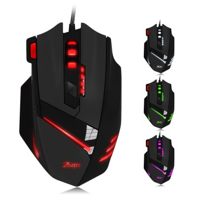 ZELOTES T - 60 Wired Optical Self-defining Gaming Mouse