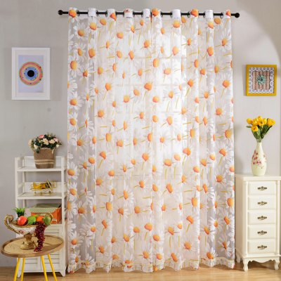 270cm x 100cm Floral Tull Curtain Window Screening