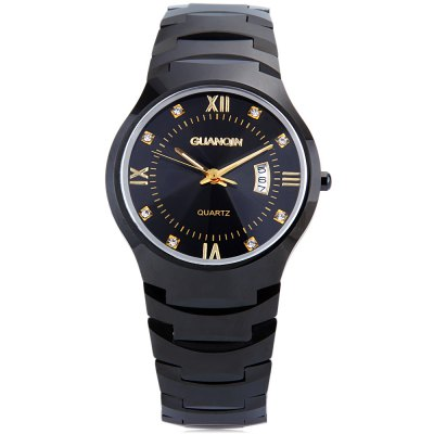 GUANQIN 6020G Male Quartz WatchMens Watches<br>GUANQIN 6020G Male Quartz Watch<br><br>Band Length: 7.87 inch<br>Band Material Type: Tungsten steel<br>Band Width: 18mm<br>Case material: Tungsten steel<br>Case Shape: Round<br>Clasp type: Butterfly Clasp<br>Dial Diameter: 1.38 inch<br>Dial Display: Analog<br>Dial Window Material Type: Sapphire<br>Feature: Date<br>Gender: Men<br>Movement: Quartz<br>Style: Business<br>Water Resistance Depth: 100m<br>Product weight: 0.152 kg<br>Package weight: 0.174 kg<br>Product Size(L x W x H): 20.00 x 4.00 x 0.80 cm / 7.87 x 1.57 x 0.31 inches<br>Package Size(L x W x H): 11.00 x 5.00 x 1.80 cm / 4.33 x 1.97 x 0.71 inches<br>Package Contents: 1 x GUANQIN 6020G Male Quartz Watch