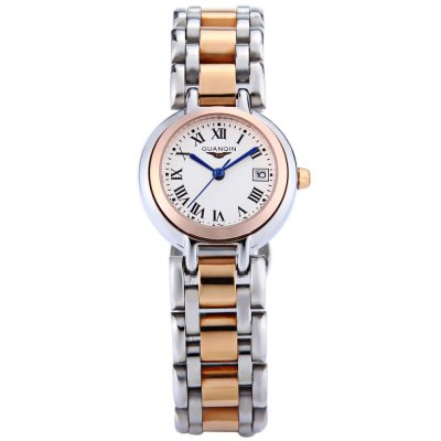 GUANQIN CQ15005 Women Quartz WatchWomens Watches<br>GUANQIN CQ15005 Women Quartz Watch<br><br>Band Length: 7.87 inch<br>Band Material Type: Stainless Steel<br>Band Width: 16mm<br>Case material: Stainless Steel<br>Case Shape: Round<br>Clasp type: Butterfly Clasp<br>Dial Diameter: 0.98 inch<br>Dial Display: Analog<br>Dial Window Material Type: Sapphire<br>Feature: Date<br>Gender: Women<br>Movement: Quartz<br>Style: Simple<br>Water Resistance Depth: 100m<br>Product weight: 0.080 kg<br>Package weight: 0.102 kg<br>Product Size(L x W x H): 20.00 x 3.00 x 0.80 cm / 7.87 x 1.18 x 0.31 inches<br>Package Size(L x W x H): 11.00 x 4.00 x 1.80 cm / 4.33 x 1.57 x 0.71 inches<br>Package Contents: 1 x GUANQIN CQ15005 Women Quartz Watch