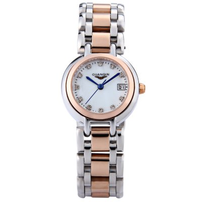 GUANQIN CQ15005 Women Quartz WatchWomens Watches<br>GUANQIN CQ15005 Women Quartz Watch<br><br>Band Length: 7.09 inch<br>Band Material Type: Stainless Steel<br>Band Width: 16mm<br>Case material: Stainless Steel<br>Case Shape: Round<br>Clasp type: Butterfly Clasp<br>Dial Diameter: 0.98 inch<br>Dial Display: Analog<br>Dial Window Material Type: Sapphire<br>Feature: Date<br>Gender: Women<br>Movement: Quartz<br>Style: Simple<br>Water Resistance Depth: 100m<br>Product weight: 0.078 kg<br>Package weight: 0.100 kg<br>Product Size(L x W x H): 18.00 x 3.00 x 0.80 cm / 7.09 x 1.18 x 0.31 inches<br>Package Size(L x W x H): 10.00 x 4.00 x 1.80 cm / 3.94 x 1.57 x 0.71 inches<br>Package Contents: 1 x GUANQIN CQ15005 Women Quartz Watch