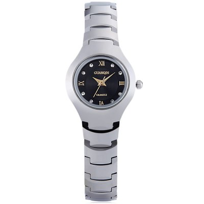 GUANQIN 6037L Female Quartz WatchWomens Watches<br>GUANQIN 6037L Female Quartz Watch<br><br>Band Length: 6.69 inch<br>Band Material Type: Tungsten steel<br>Band Width: 12mm<br>Case material: Tungsten steel<br>Case Shape: Round<br>Clasp type: Butterfly Clasp<br>Dial Diameter: 0.98 inch<br>Dial Display: Analog<br>Dial Window Material Type: Sapphire<br>Gender: Women<br>Movement: Quartz<br>Style: Dress<br>Water Resistance Depth: 100m<br>Product weight: 0.085 kg<br>Package weight: 0.107 kg<br>Product Size(L x W x H): 17.00 x 2.50 x 0.80 cm / 6.69 x 0.98 x 0.31 inches<br>Package Size(L x W x H): 9.50 x 3.50 x 1.80 cm / 3.74 x 1.38 x 0.71 inches<br>Package Contents: 1 x GUANQIN 6037L Feamle Quartz Watch