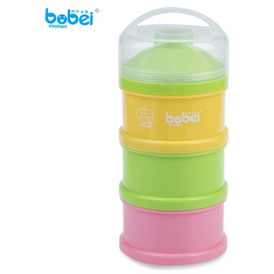 Bobei Elephant 3 Boxes Babies Powder Milk Storage Box
