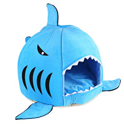 Novelty Soft Shark Mouth Shape Doghouse