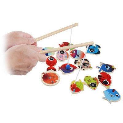 Kids Magnetic Wooden Fishing Game Playset Educational ToyOutdoor Fun &amp; Sports<br>Kids Magnetic Wooden Fishing Game Playset Educational Toy<br><br>Age Range: &gt; 3 years old<br>Features: Non-electric<br>Material: Wood<br>Product weight: 0.246 kg<br>Package weight: 0.267 kg<br>Product Size(L x W x H): 19.00 x 7.00 x 4.50 cm / 7.48 x 2.76 x 1.77 inches<br>Package Size(L x W x H): 19.50 x 7.50 x 5.00 cm / 7.68 x 2.95 x 1.97 inches<br>Package Contents: 1 x Magnetic Wooden Fishing Game Playset