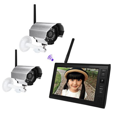 SY602D12 7 Inch TFT LCD Screen Monitor 2.4G Wireless Waterproof Night Vision IP Camera
