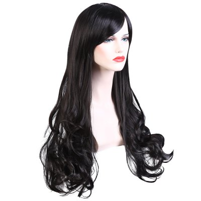 Soft Long Wave Lady Synthetic Hair Wigs Cosplay Party
