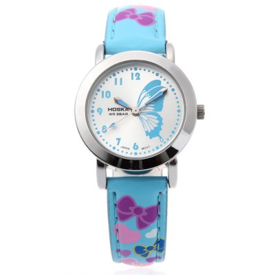 HOSKA H803S Kids Quartz WatchKids Watches<br>HOSKA H803S Kids Quartz Watch<br><br>Band Length: 7.11 inch<br>Band Material Type: Leather<br>Band Width: 12 mm<br>Case material: Alloy<br>Case Shape: Round<br>Clasp type: Pin Buckle<br>Dial Diameter: 1.12 inch<br>Dial Display: Analog<br>Dial Window Material Type: Glass<br>Gender: Children<br>Movement: Quartz<br>Style: Simple<br>Water Resistance Depth: 30m<br>Product weight: 0.024 kg<br>Package weight: 0.045 kg<br>Product Size(L x W x H): 21.00 x 3.00 x 0.70 cm / 8.27 x 1.18 x 0.28 inches<br>Package Size(L x W x H): 22.00 x 4.00 x 1.70 cm / 8.66 x 1.57 x 0.67 inches<br>Package Contents: 1 x HOSKA H803S Children Quartz Watch