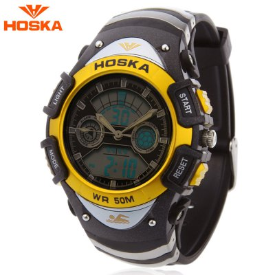 HOSKA HD014B Dual Movt Kid Sport Quartz Digital Watch
