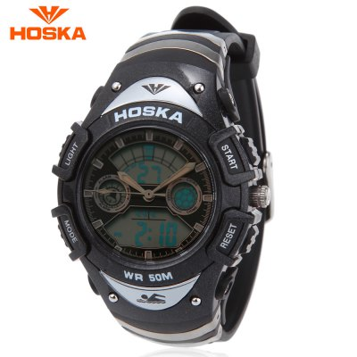 HOSKA HD014S Dual Movt Kids Sport Quartz Digital Watch