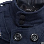 Male Zipper Design Double-Breasted Overcoat for sale