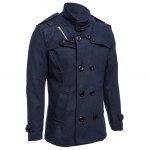 Male Zipper Design Double-Breasted Overcoat deal