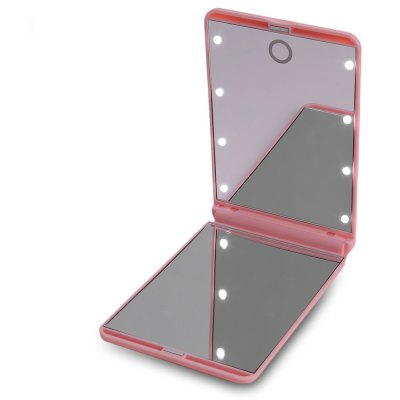 8 LEDs Portable Touch Screen Lighted Makeup Mirror