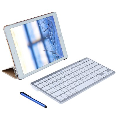 4 in 1 Leather Smart Case with Wireless Bluetooth Keyboard for iPad Pro 9.7