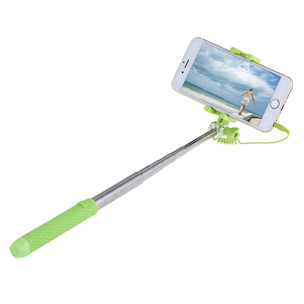 buy d9element wire control rotating extendable selfie stick mirror blue at tvcmall. Black Bedroom Furniture Sets. Home Design Ideas