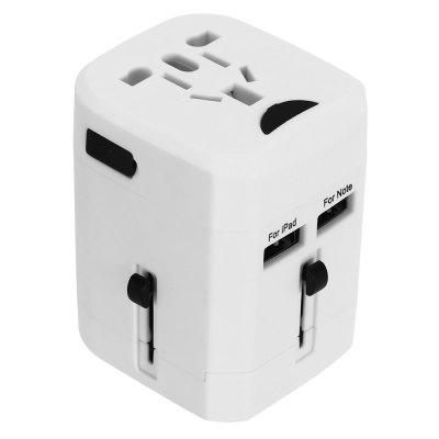 Universal Travel Plug Dual USB Port Wall Charging ConverterChargers &amp; Cables<br>Universal Travel Plug Dual USB Port Wall Charging Converter<br><br>Product weight: 0.134 kg<br>Package weight: 0.167 kg<br>Product Size(L x W x H): 7.20 x 5.80 x 5.10 cm / 2.83 x 2.28 x 2.01 inches<br>Package Size(L x W x H): 8.50 x 7.50 x 6.50 cm / 3.35 x 2.95 x 2.56 inches<br>Package Contents: 1 x Charging Adapter