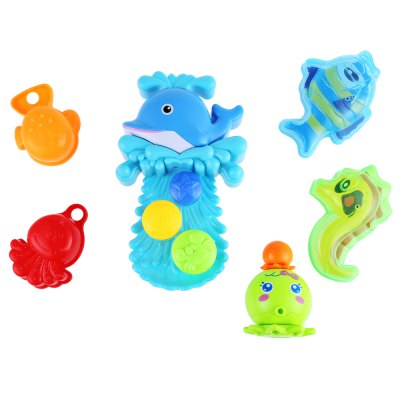 Baby Dolphin Squirt Water Bath Toy Set