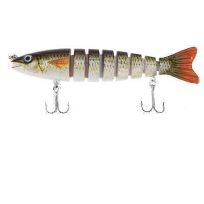 HS - 006 Minnow 8 Sections Fish Bait with Hooks