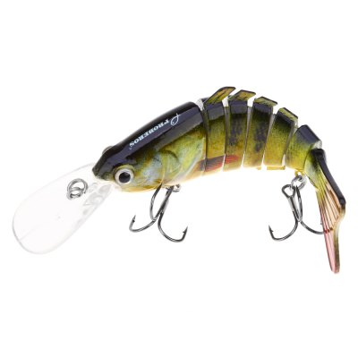 HS - 005 Minnow Six Sections Fish Bait with Hooks