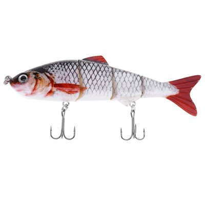 HS007 Minnow Four Sections Fish Bait with Hooks