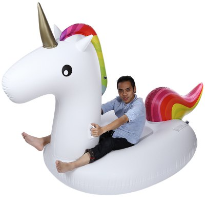 Summer Lake Swimming Inflatable UnicornOther Water Sports Accessories<br>Summer Lake Swimming Inflatable Unicorn<br><br>Package Contents: 1 x Swimming Inflatable Unicorn, 1 x Plastic Bag, 1 x Repair Kit<br>Package Size(L x W x H): 38.00 x 30.00 x 10.00 cm / 14.96 x 11.81 x 3.94 inches<br>Package weight: 2.685 kg<br>Product Size(L x W x H): 275.00 x 140.00 x 120.00 cm / 108.27 x 55.12 x 47.24 inches<br>Product weight: 2.480 kg