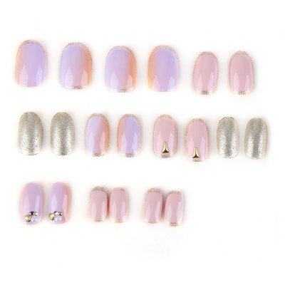 Small Short Manicure Patch Nail Sticker