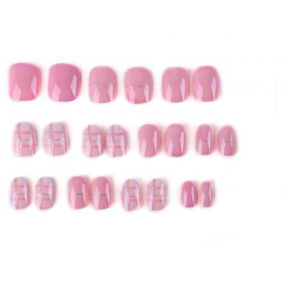 Fashion Lovely Pink Short Nail Sticker
