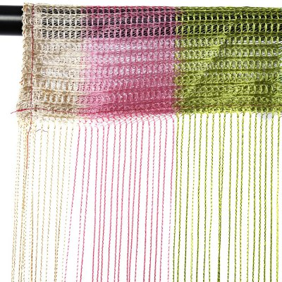 1 x 2m Mixed Colors Line String Window Curtain