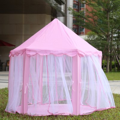 Portable Princess Castle Play Tent Indoor Outdoor PlayhouseOutdoor Fun &amp; Sports<br>Portable Princess Castle Play Tent Indoor Outdoor Playhouse<br><br>Age Range: &gt; 3 years old<br>Features: Foldable<br>Material: Cloth<br>Package Contents: 1 x Princess Castle Playtent, 1 x Pack of Tent Poles, 1 x Pack of Accessories<br>Package Size(L x W x H): 49.00 x 34.00 x 12.00 cm / 19.29 x 13.39 x 4.72 inches<br>Package weight: 2.034 kg<br>Product weight: 0.632 kg<br>Type: Tent