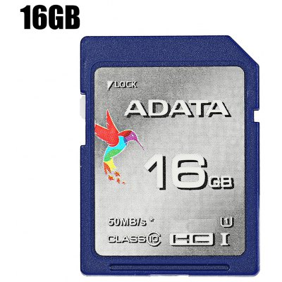 ADATA 16 / 32 / 64GB 50Mbps Class 10 SDXC Memory Card