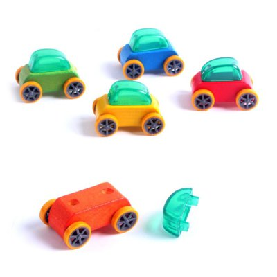 1pc Baby Cartoon Wooden Car Educational Toy