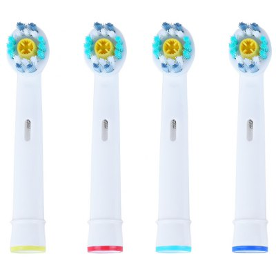 4pcs Oral Hygiene Rotary Electric Toothbrush Heads Soft Bristles
