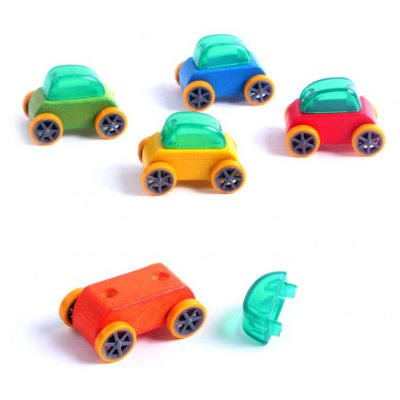 1pc Toddler Cartoon Wooden Educational Car Summer Toy