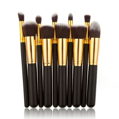 10pcs Makeup Brushes with Black Artificial Leather Storage BagMakeup Brushes &amp; Tools<br>10pcs Makeup Brushes with Black Artificial Leather Storage Bag<br><br>Item Type: Makeup Tool Kits<br>Materials: Nylon,PU<br>Product weight: 0.270 kg<br>Package weight: 0.314 kg<br>Product size (L x W x H): 18.00 x 23.00 x 10.00 cm / 7.09 x 9.06 x 3.94 inches<br>Package size (L x W x H): 18.50 x 23.50 x 10.50 cm / 7.28 x 9.25 x 4.13 inches<br>Package Content: 1 x Makeup Brushes Container, 10 x Makeup Brushes