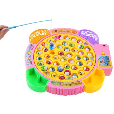 Kids Electronic Fishing Toy Parent-child Funny GameClassic Toys<br>Kids Electronic Fishing Toy Parent-child Funny Game<br><br>Age Range: &gt; 3 years old<br>Features: Battery Operated<br>Gender: Unisex<br>Material: Plastic<br>Product weight: 0.565 kg<br>Package weight: 0.753 kg<br>Package Size(L x W x H): 34.00 x 32.50 x 5.00 cm / 13.39 x 12.8 x 1.97 inches<br>Package Contents: 1 x Electronic Fishing Toy Set