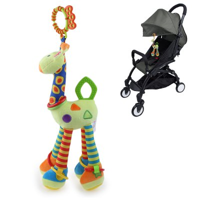 Giraffe Animal Model Doll Rattle Ring Bell Crib Stroller Hanging Toy