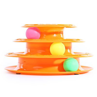 Cat Three Layers Turntable Scroll Ball Toy