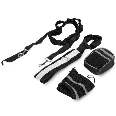 Four-piece Hands Free Pets Dog Leash with Reflective Belt