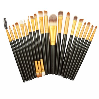 20pcs Eye Makeup Foundation Brush with Leopard Storage CaseMakeup Brushes &amp; Tools<br>20pcs Eye Makeup Foundation Brush with Leopard Storage Case<br><br>Item Type: Makeup Tool Kits<br>Materials: Nylon,Satin,Synthetic Leather,Wool<br>Product weight: 0.270 kg<br>Package weight: 0.314 kg<br>Product size (L x W x H): 18.00 x 6.00 x 6.00 cm / 7.09 x 2.36 x 2.36 inches<br>Package size (L x W x H): 18.50 x 6.50 x 6.50 cm / 7.28 x 2.56 x 2.56 inches<br>Package Content: 1 x Makeup Brushes Leopard Accommodating Cylinder, 20 x Eye Makeup Brushes